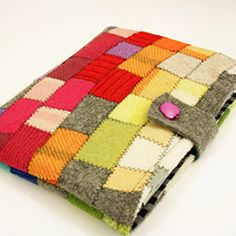 This tutorial will show you how to make the felted patchwork for the outer part of the cover and instructions to measure and sew your own.