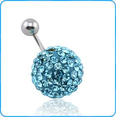 BR01345 Wholesale Body Jewelry Crystal CZ Accessories Stainless Steel Add Charm Belly Ring