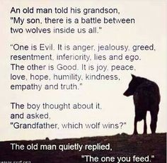 Which wolf you gonna feed? #inspiration