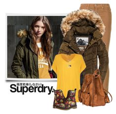 """""""The Cover Up – Jackets by Superdry: Contest Entry"""" by sherry7411 ❤ liked on Polyvore featuring Superdry, AG Adriano Goldschmied, Boohoo, Yves Saint Laurent, Dr. Martens and Marc Jacobs"""