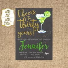 30th birthday invitation Cocktail party Cocktail by CoolStudio