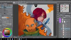 Timelapse digital painting - Chapter 7 Cover Page [Tales of Midgard webc...