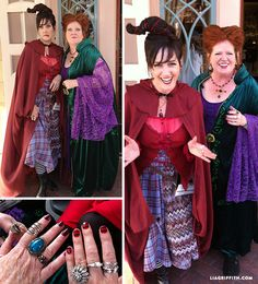 A couple of years ago my sister Deanna and I took on the characters of Winnie and Mary Sanderson for the annual Micky's Halloween Party at Disneyland.