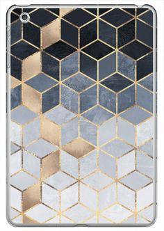 Casetify iPad Mini 1/2/3 Classic Snap Case - Soft Blue Gradient Cubes by Elisabeth Fredriksson #Casetify