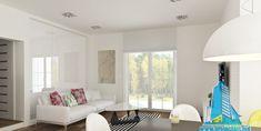 Proiect de casa cu parter mansarda si garaj pentru un Curtains, Furniture, Design, Home Decor, House, Dekoration, Automobile, Living Room Ideas, Blinds