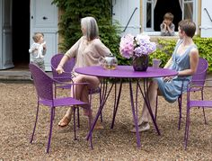 Tavolo rotondo da giardino moderno (metallo) - RENDEZ-VOUS by Pascal Mourgue - FERMOB