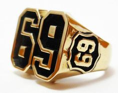 Brass 69 ring Style Heavy Biker Harley Rocker Men's Jewelry (BR-14)