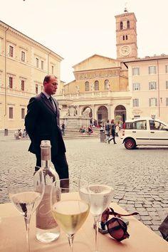 Trastevere restaurant in Rome, Italy