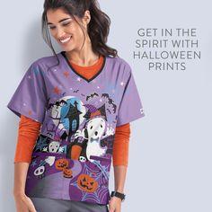 Halloween Scrubs, Halloween Diy, Stylish Scrubs, Tops, Women, Fashion, Moda, Fashion Styles, Fashion Illustrations