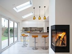 Contemporary kitchen-dining space