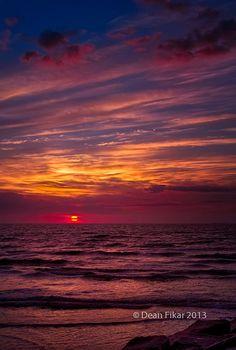 Winter sunrise in Galveston, Texas
