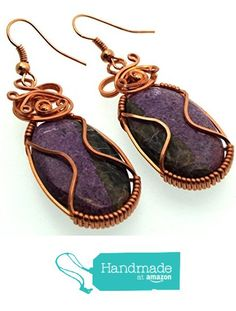 Stichtite Gemstone Copper Wire Wrapped Earrings from Angelleesa Designs https://www.amazon.co.uk/dp/B01M0AT9LY/ref=hnd_sw_r_pi_dp_zzM7xbCPY7PCB #handmadeatamazon