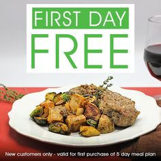 First Day of Meals FREE - That's 3 Meals FREE! Get Fresh, Healthy Chef-prepared Meals Personally Delivered at OrderMyChef.com. #mychef #ordermychef #mealplans #freshmeals