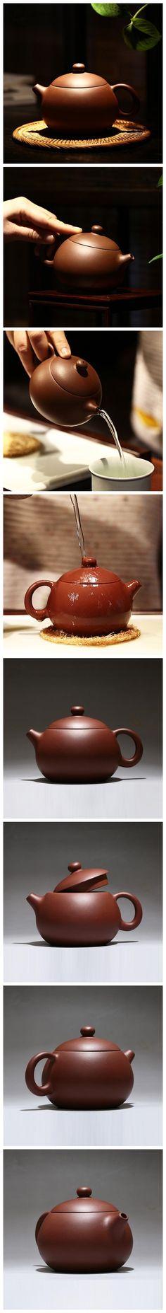 Handmade Yixing Zisha clay teapot uses purple clay aged for more than 10 years.