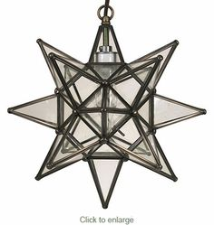 this small clear glass star light will illuminate any style decor and enchant all who enter your home these hanging star lights are all handmade by