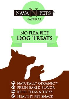 NAVA Pets is your natural and organic pet product specialist.  Perfectly sized for all sizes and breed. Our 'NO FLEA BITE' ORGANIC DOG TREATS is packed full with flavor and baked with love for your 4-paw friend.  NO Artificial Ingredients or Preservatives. Our treats naturally repel fleas and ticks with every bite working to keeps these pests away with continued daily use. Each treat has a nice soft- chewy texture that most dogs love and comes in a box or resealed pouch of 24 treats (8 oz.)…