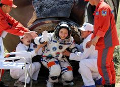 [Remember Liu Yang, China's first female taikonaut, who blasted off into space earlier this month? She returned to Earth today when the the Shenzhou-IX spacecraft landed safely in Inner Mongolia at 10:05 local time (02:05 GMT).]