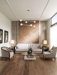 Starwood, Porcelanosa wood effect tiles - Living Room Tiles, Tile Bedroom, Minimalist Living Room, Wood Effect Tiles, Wood Wall Tiles, Flooring, Wooden Floors Living Room, Wooden Tile, Walnut Floors