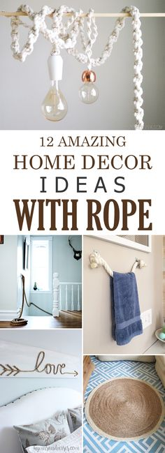 12 Amazing DIY Home Decor Ideas With Rope