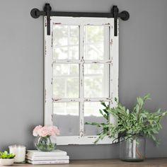 Rustic Antique White Farmhouse Mirror | Kirklands