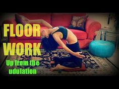 Belly dance floor work: how to come up from the snake undulation ~ Free belly dance classes online