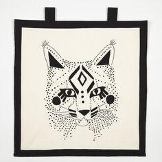 Abstract bobcat print