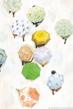 Nakajima Rie watercolor illustrations