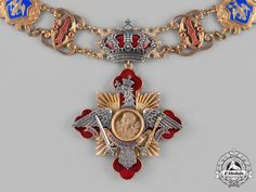 A Rare Collar of the Order of Carol I - Order of Carol I - Orders - Romania (Kingdom) - Europe Romanian Royal Family, Land Of The Brave, Military Decorations, Order Of The Garter, Royal Jewelry, Chivalry, Coat Of Arms, Badge, Custom Stuff