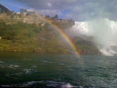 The bottom of Niagra Falls