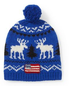 Reindeer Wool Hat from Polo Ralph Lauren  With a festive reindeer pattern and  a playful a381fb930