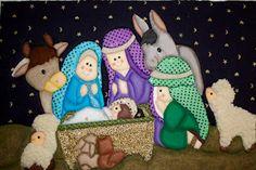 Liliana Cano Fernández - Google+ Christmas Art, Christmas Ornaments, Nativity Ornaments, Nativity Scenes, Small Quilts, Kids Playing, Needlework, Holiday Decor, Liliana