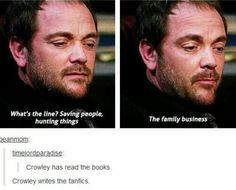 Aw. Crowley's a fan.