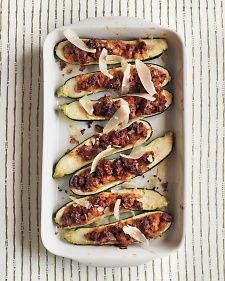 Sausage Stuffed Zucchini: These can be assembled a day ahead and refrigerated. Remove them from the refrigerator 30 minutes before baking.