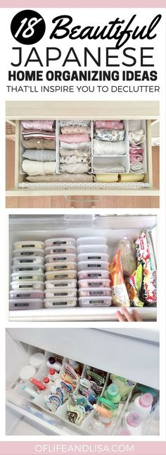 Home organization ideas from Japan.