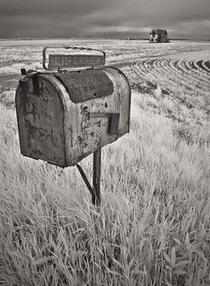 Out On The Rural Route ~ photographer James B Wheeler.  Near the town of Rugby,  Pierce County, North Dakota.     #photography