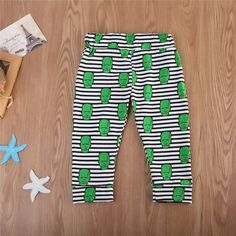 Little Green Alien Striped Leggings from kidspetite.com! Adorable & affordable baby, toddler & kids clothing. Shop from one of the best providers of children apparel at Kids Petite. FREE Worldwide Shipping to over 230+ countries ✈️ www.kidspetite.com #clothing #infant #newborn #girl #baby #leggings