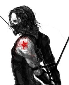 Normally this would be sexy, and it still kind of is if I don't think about it too much, but since it's Bucky, I just see this as one big consent issue given the circumstances that led to his becoming the Winter Soldier. I can't imagine him wanting to be tied up for fun. I feel like it would trigger severe PTSD. -BH (I should go to bed. My angsty feels are strong tonight.)