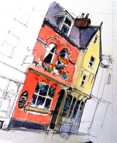 A watercolour sketch of a nice pub in York...