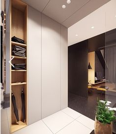 Three examples of luxurious loft designs with modern furnishings and rich colors. Bohemian Bedroom Design, Modern Bedroom Design, Home Interior Design, Interior Architecture, Loft Design, House Design, White Wall Paneling, Master Bedroom Interior, Built In Wardrobe