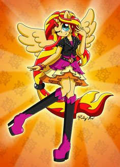 Just Sunset Shimmer, I made it with paint tool SAI. I think the shading is good, I finished this after 2h 30m (maybe). Sunset Shimmer © &