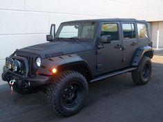 Flat Black Jeep Wrangler Unlimited