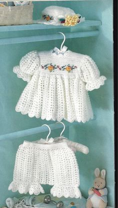 "CROCHET Pattern Baby Infant Toddler ""Sugar n Spice"" Dress, Hat, Pantaloons. $3.99, via Etsy."