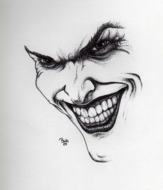 Joker drawing by GrayWolfcg.deviantart.com on @DeviantArt