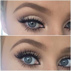 Brow and eye makeup