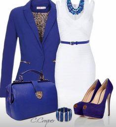 Azul y blanco, radiante!