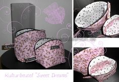 Hello and welcome to the sewing instructions for a sweet toiletry bag … - Diy Fabric Sewing Patterns Free, Free Sewing, Sewing Tutorials, Free Pattern, Sewing Pants, Sewing Aprons, Pouch Pattern, Baby Sewing Projects, Toiletry Bag
