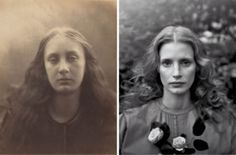 Julia Margaret Cameron rarely created realistic portraits of women. Instead, her subjects often appeared as mythical or literary figures. Christabel, an 1866 photograph of Cameron's niece, May Prinsep, portrays the doomed young woman from Samuel Taylor Coledridge's poem of the same name. The work joins 37 others on exhibit at the Metropolitan Museum of Art until January 5.