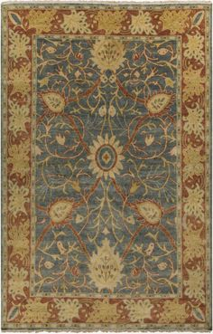 Surya Hillcrest HIL9016 Rug $250 - $5095 after discount. Hand-knotted in wool. Rugs USA.