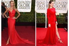 Rojo, el color favorito de los Globos de Oro 2015