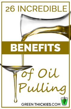 OIL PULLING ~ is basically swishing oils around your mouth like mouthwash. Would you believe there are actually 26 incredible benefits of oil pulling? Read on to find out why you need to add this to your morning routine! Oral Health, Health And Nutrition, Health And Wellness, Coconut Oil Pulling, Coconut Oil Uses, Natural Cures, Natural Healing, Health Remedies, Home Remedies